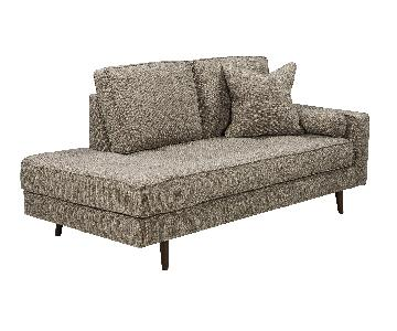 Ashley's Chento Contemporary Fabric Chaise in Jute Color