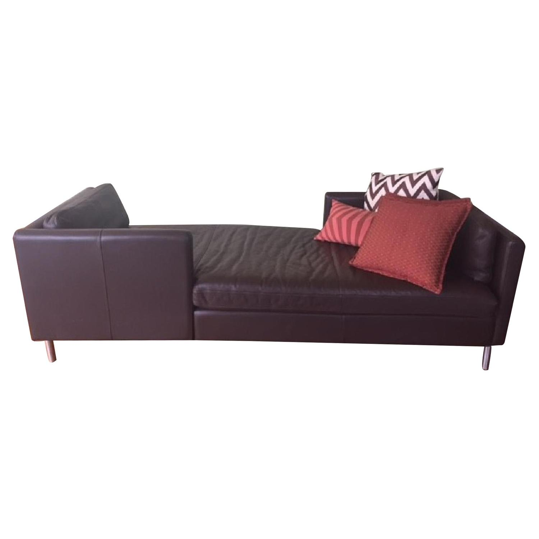 Room & Board Brand Soho Leather/Chrome Lounge
