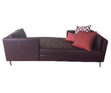 Room u0026 Board Brand Soho Leather/Chrome Lounge ...  sc 1 st  AptDeco : chaise lounge sofa bed sale - Sectionals, Sofas & Couches