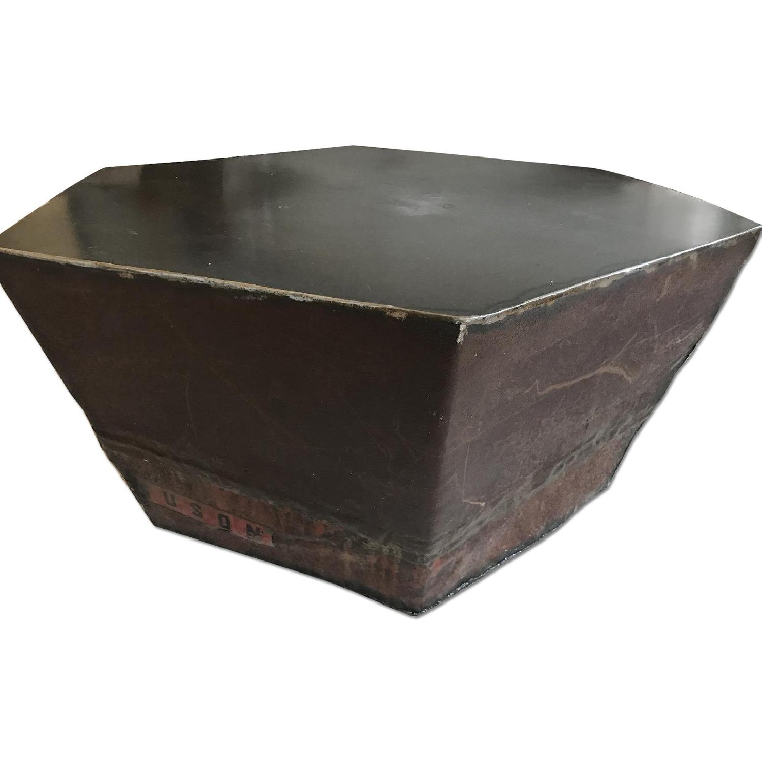 Hexagonal Steel Coffee Table Aptdeco