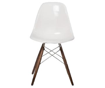 Organic Modernism White Glossy Dining Chair