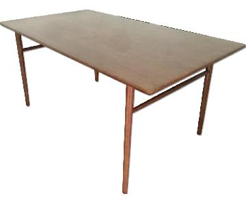 Mid Century Danish Modern Solid Wood Dining Table