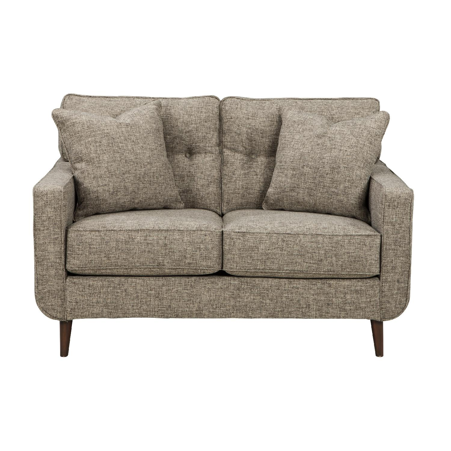 Ashley Chento Contemporary Loveseat in Jute Color