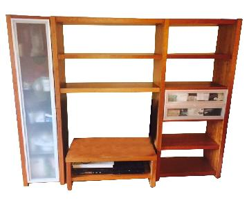 Workbench Media Center w/ Bookshelf