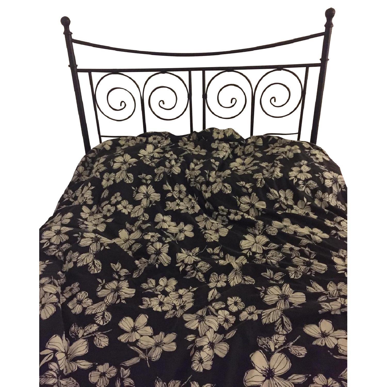 Ikea Noresund Full Size Metal Bed Frame Aptdeco