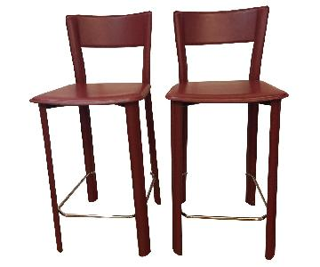 Design Within Reach Leather Counter Stools