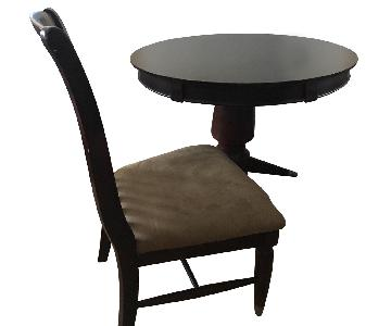 Cherry Wood Round Table w/ 4 Chairs