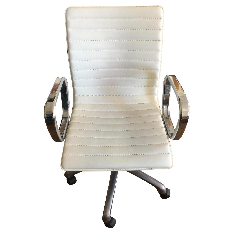 West Elm White Desk Chair