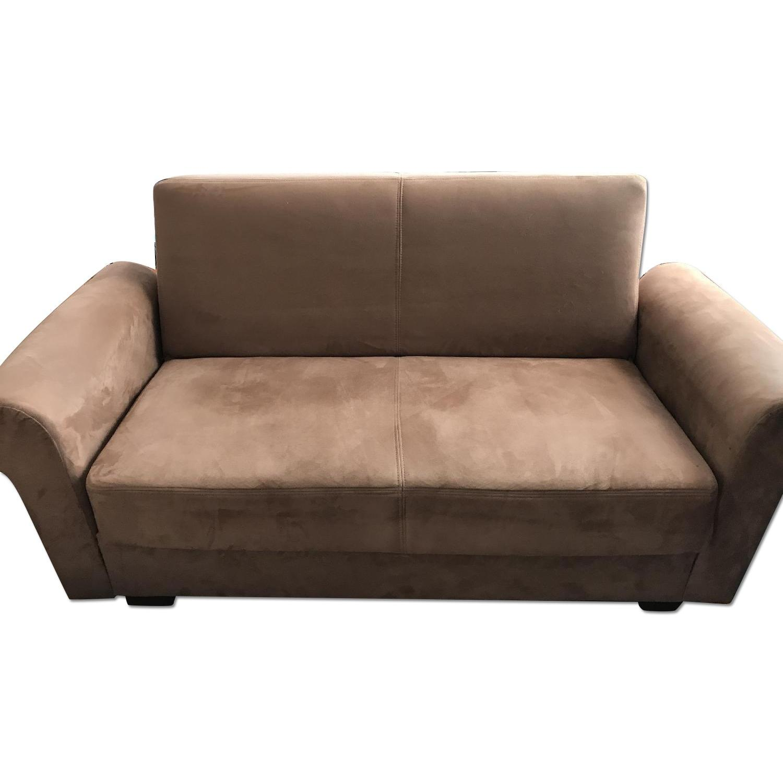 Istikbal Furniture Tan Suede Sofa + Loveseat