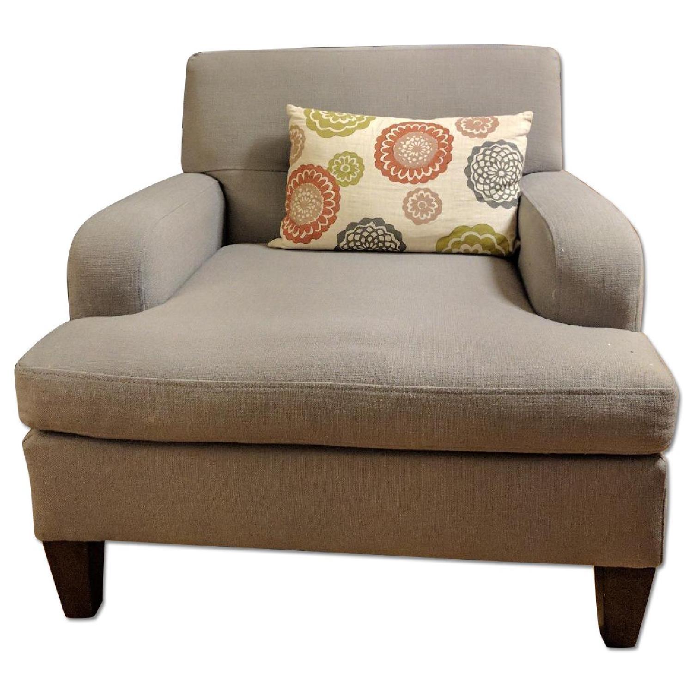 Macy's Lindsey Light Grey Armchair