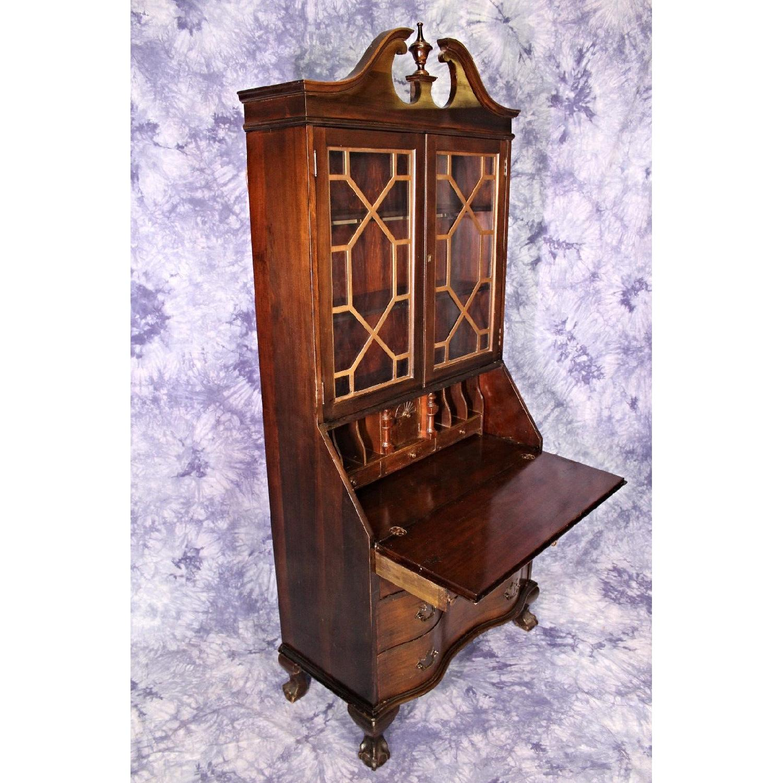 Antique Maddox Table Mahogany Secretary Desk Aptdeco