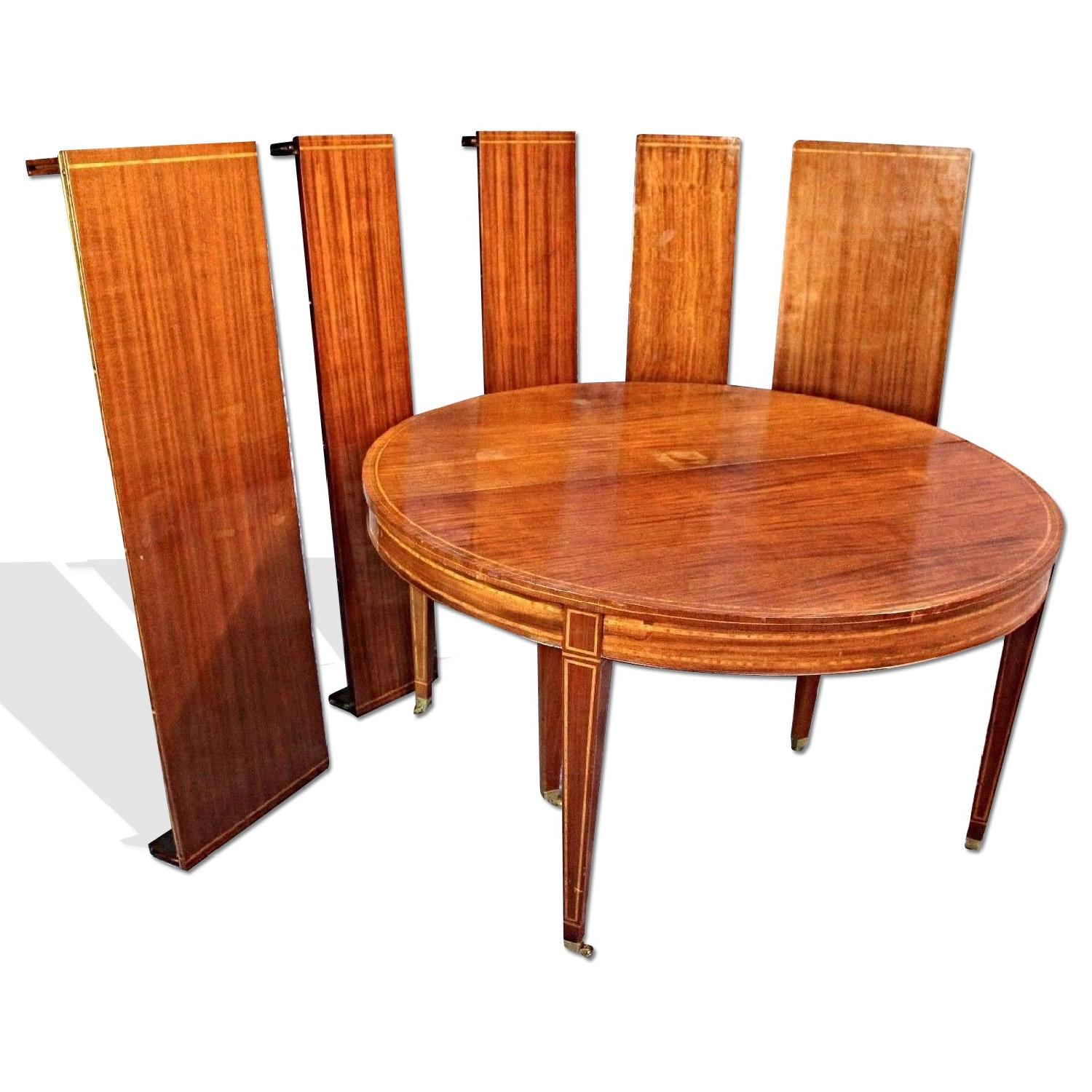 Art Deco Modern Inlaid Dining Table AptDeco