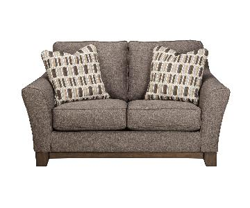 Ashley's Janley Contemporary Loveseat in Slate Color