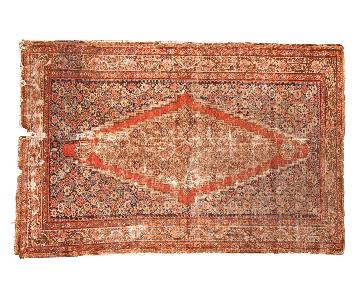 Distressed Antique Fereghan Rug