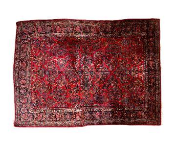 Vintage American Sarouk Carpet