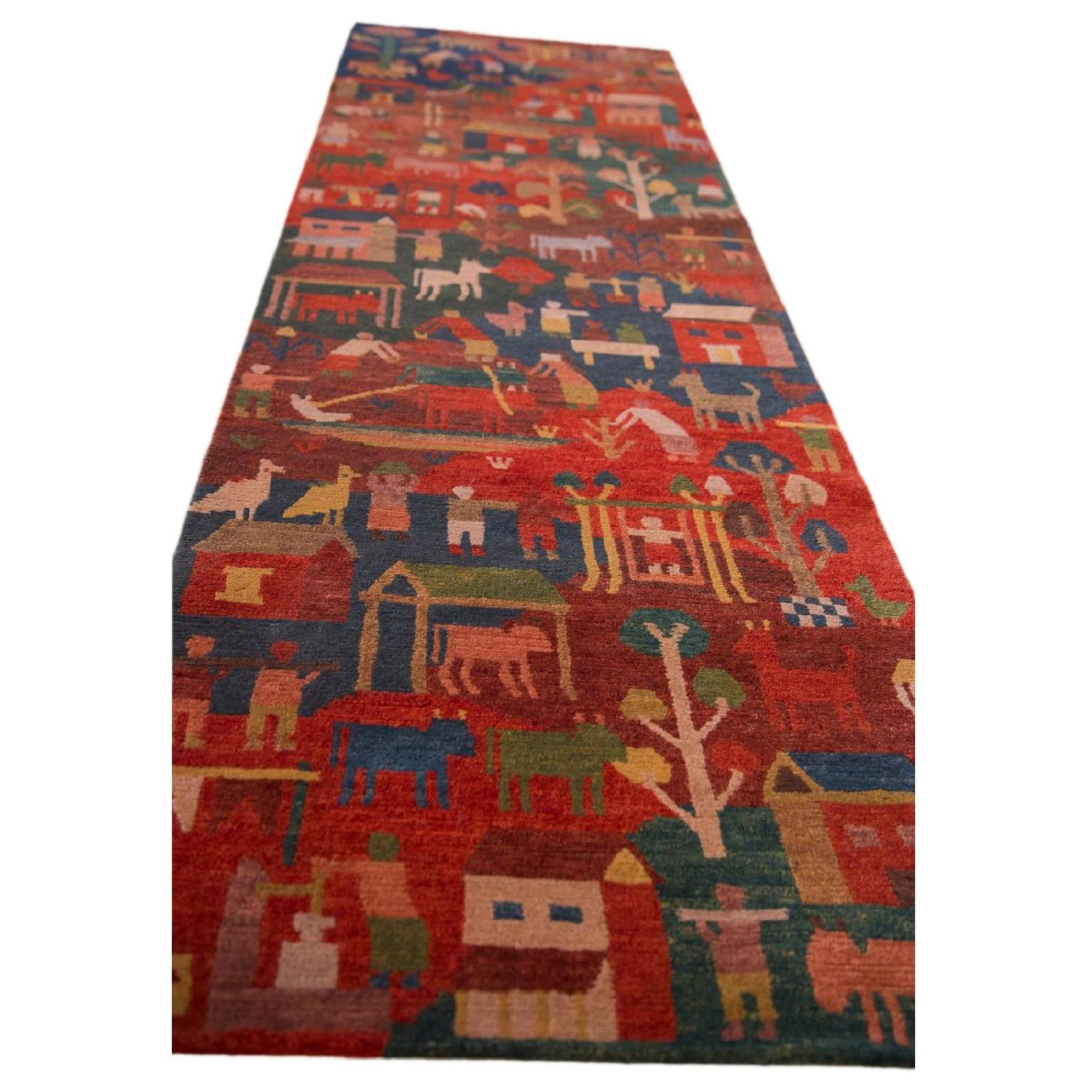 Tibetan Folk Art Rug Runner