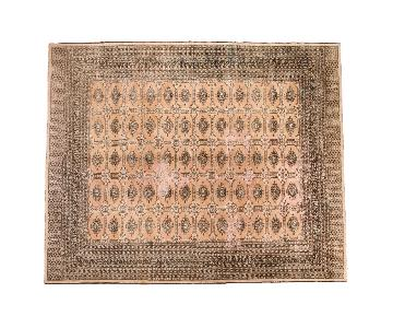 Distressed Vintage Pakistan Carpet