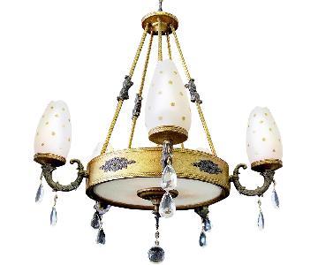 Vintage 8 Lights Crystal Empire Revival Chandelier