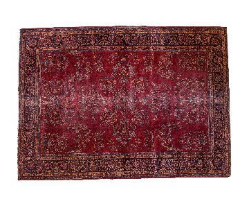 Vintage Distressed Turkish Carpet