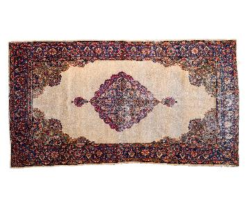 Vintage Distressed Kerman Rug