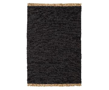 Charcoal Hemp Area Rug