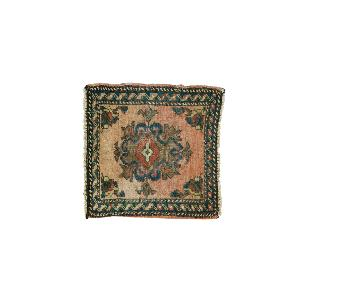 Vintage Oushak Square Rug Mat