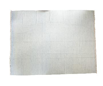 Light Blue Dhurrie Carpet