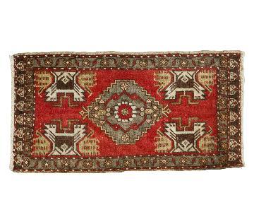 2x3.5 Vintage Oushak Rug