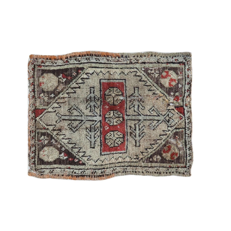 Antique Turkish Oushak Rug Mat