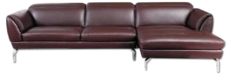 Fantastic Contemporary Sectional In Brown Top Grain Leather W Creativecarmelina Interior Chair Design Creativecarmelinacom