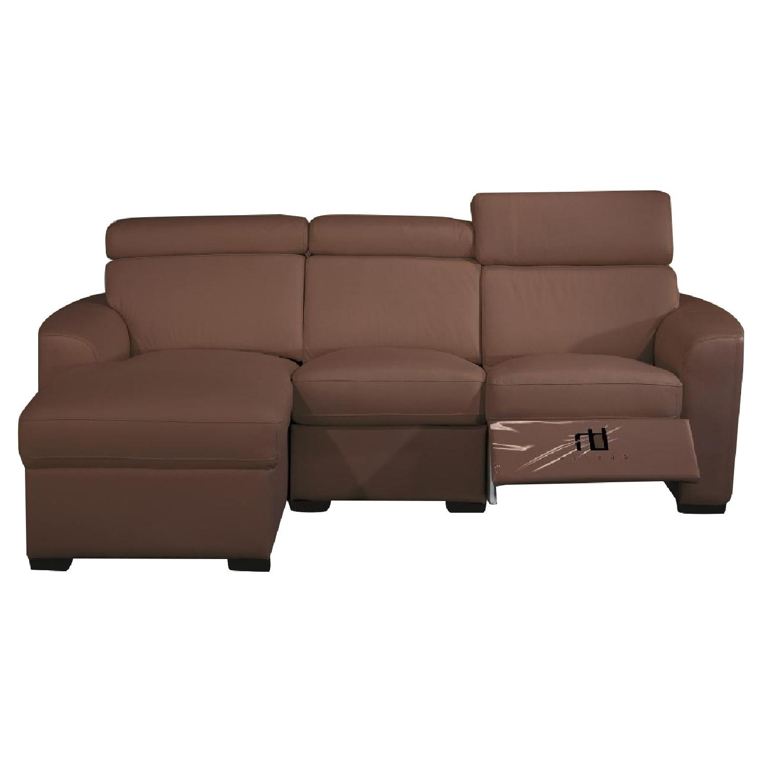 Macy s Milano Brown Leather Sectional Sofa AptDeco
