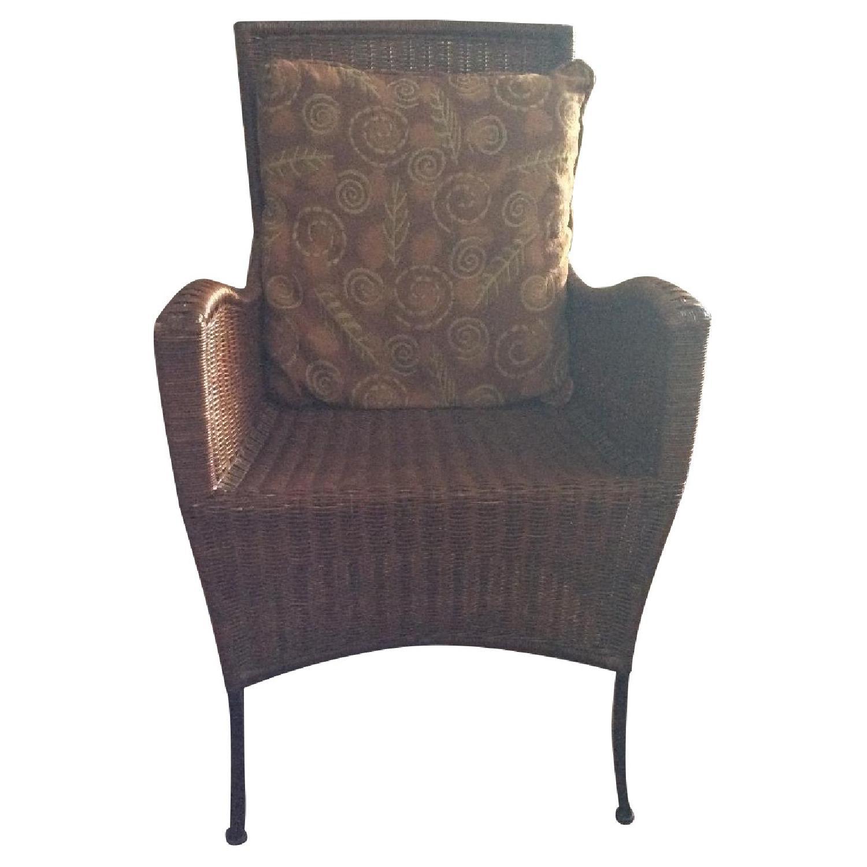 Room & Board Rattan & Steel Armchair