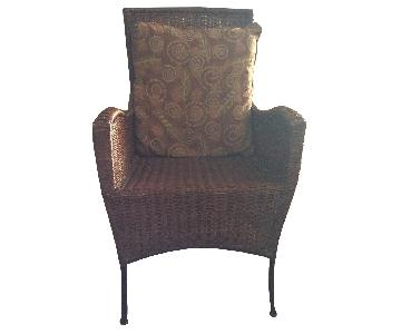 Room & Board Rattan & Steel Armchair
