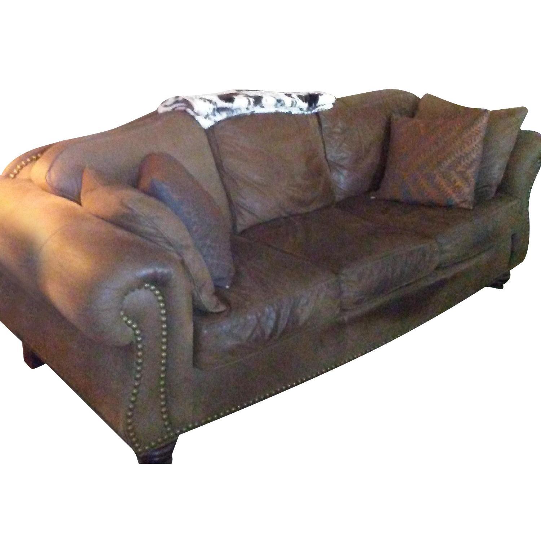 Thomasville Leather Sofa Aptdeco