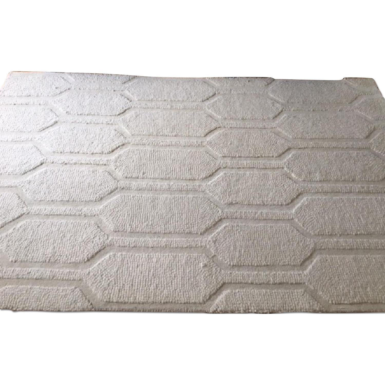 West Elm Honeycomb Wool Ivory Rug
