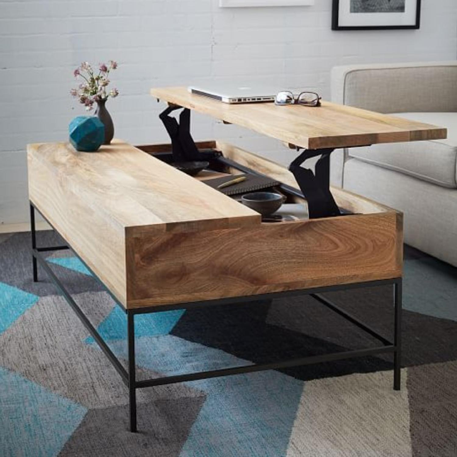 West Elm Industrial Storage Coffee Table - image-1