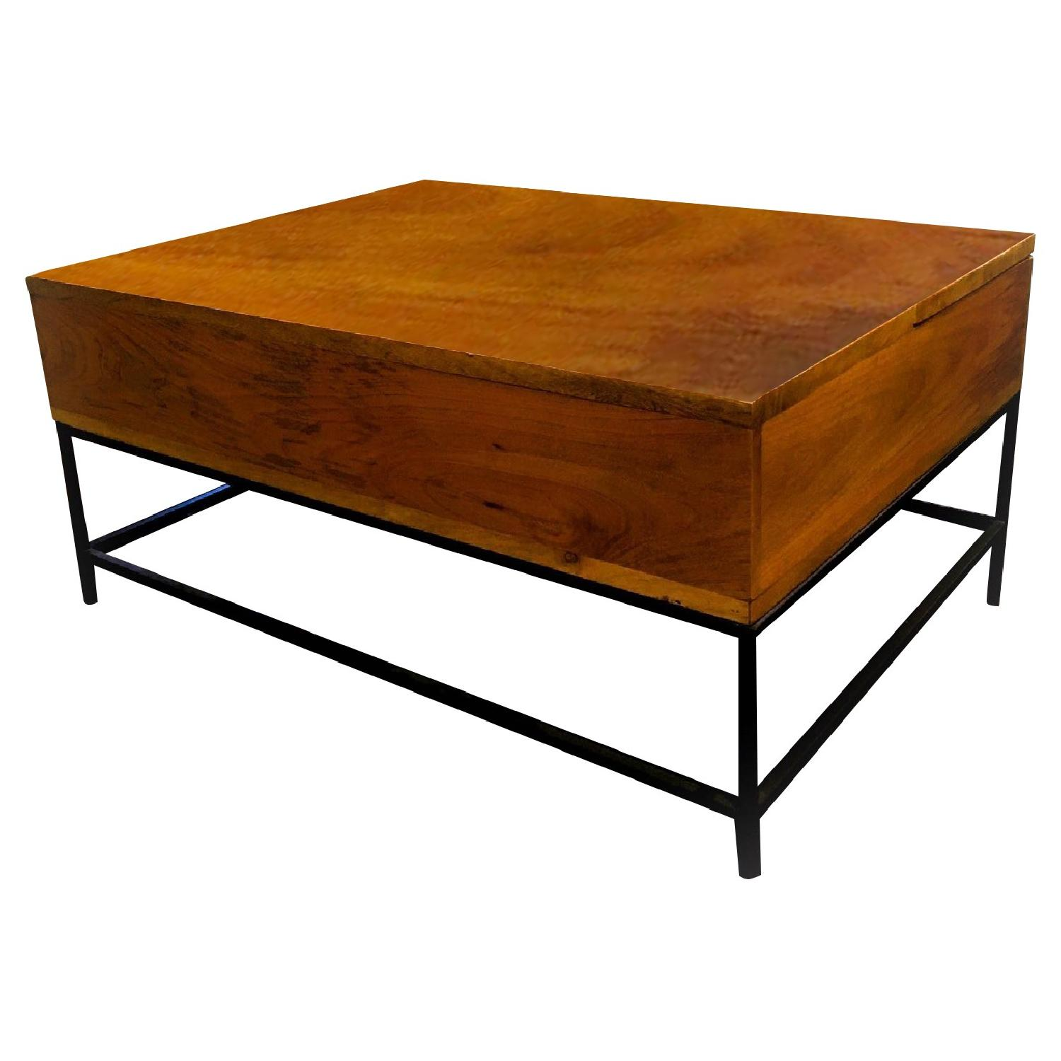 West Elm Industrial Storage Coffee Table - image-0