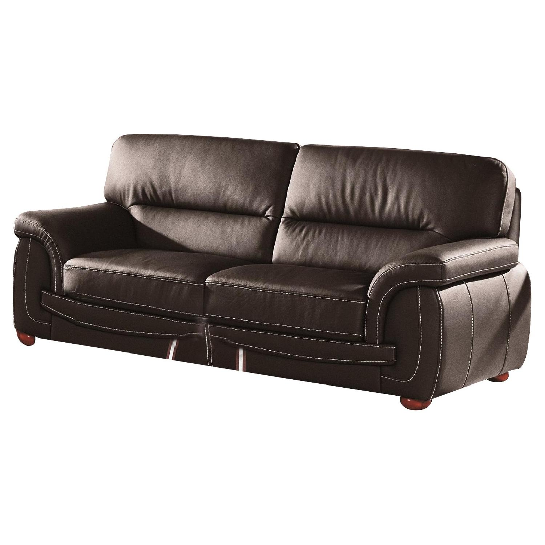 Merveilleux Modern Sofa In Black Top Grain Leather W/ High Density Foam U0026 White  Stitching ...