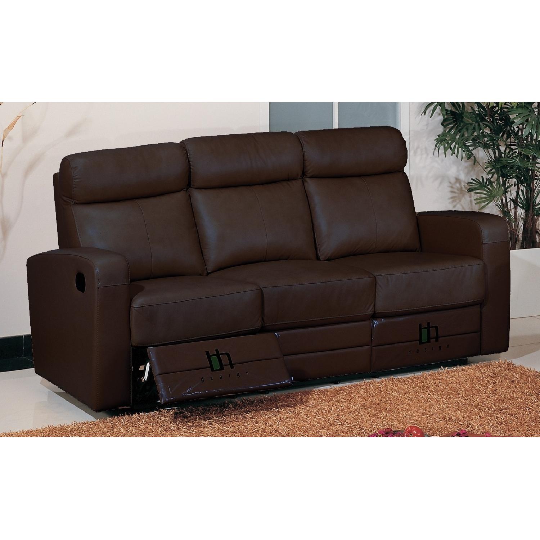 Cool Apartment Size Recliner Sofa In Brown Top Grain Leather W Creativecarmelina Interior Chair Design Creativecarmelinacom