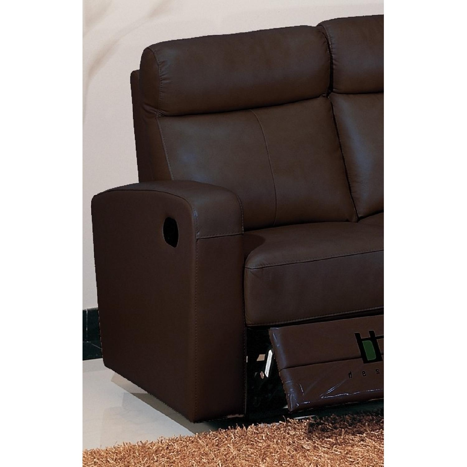 Apartment Size Recliner Loveseat in Brown Top Grain - AptDeco