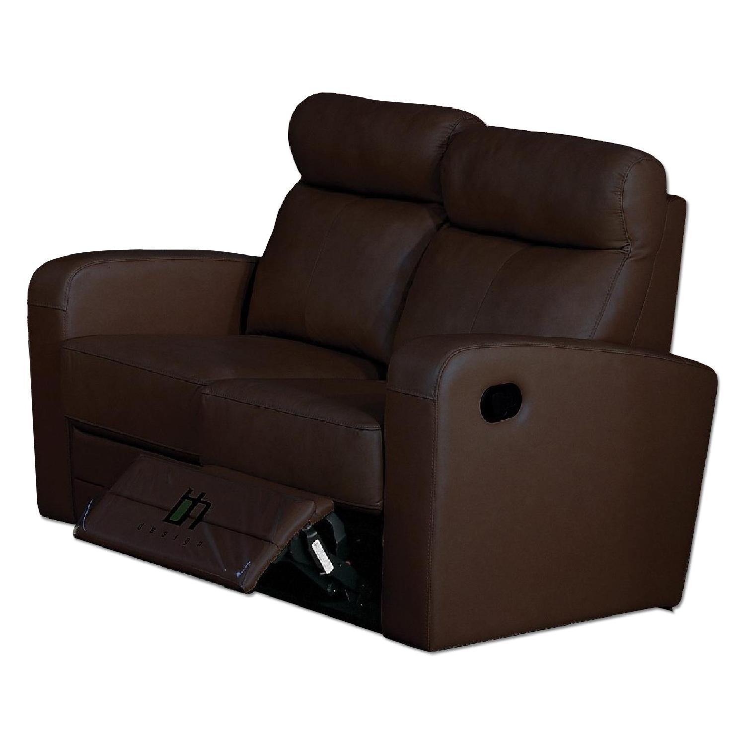 Terrific Apartment Size Recliner Loveseat In Brown Top Grain Leather Gmtry Best Dining Table And Chair Ideas Images Gmtryco