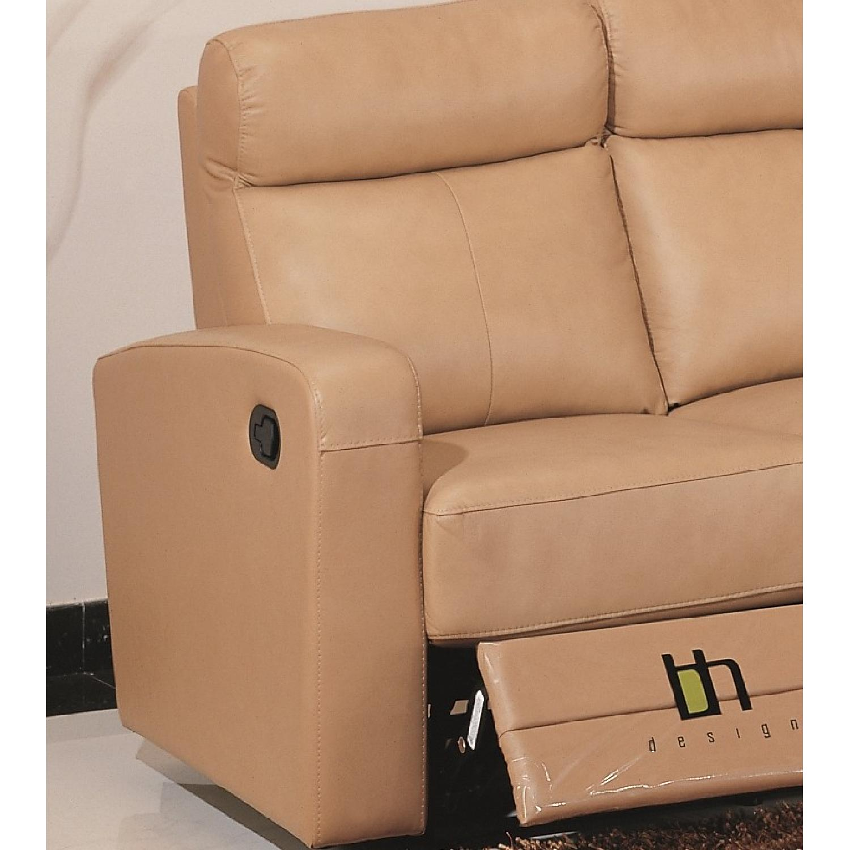 Sensational Apartment Size Recliner Sofa In Taupe Color Top Grain Creativecarmelina Interior Chair Design Creativecarmelinacom