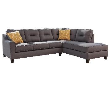 Ashley's Kirwin Nuvella Contemporary 2 Piece Sectional Fabri