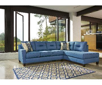Ashley's Kirwin Nuvella Contemporary 2 Piece Sectional in Bl