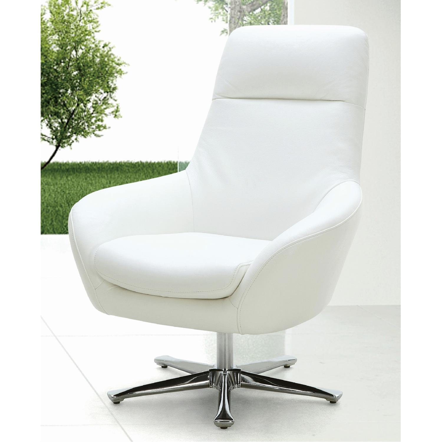 Strange Modern Style Swivel Accent Chair In White Premium Full Bralicious Painted Fabric Chair Ideas Braliciousco