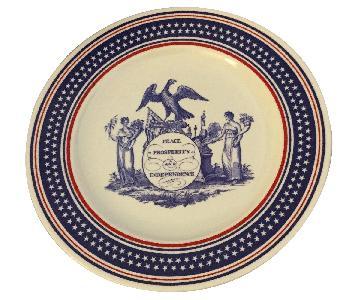 1989 Pfaltzgraff Bicentennial Presidential Inauguration Presentation Plate w/ Bush & Quayle Signatures