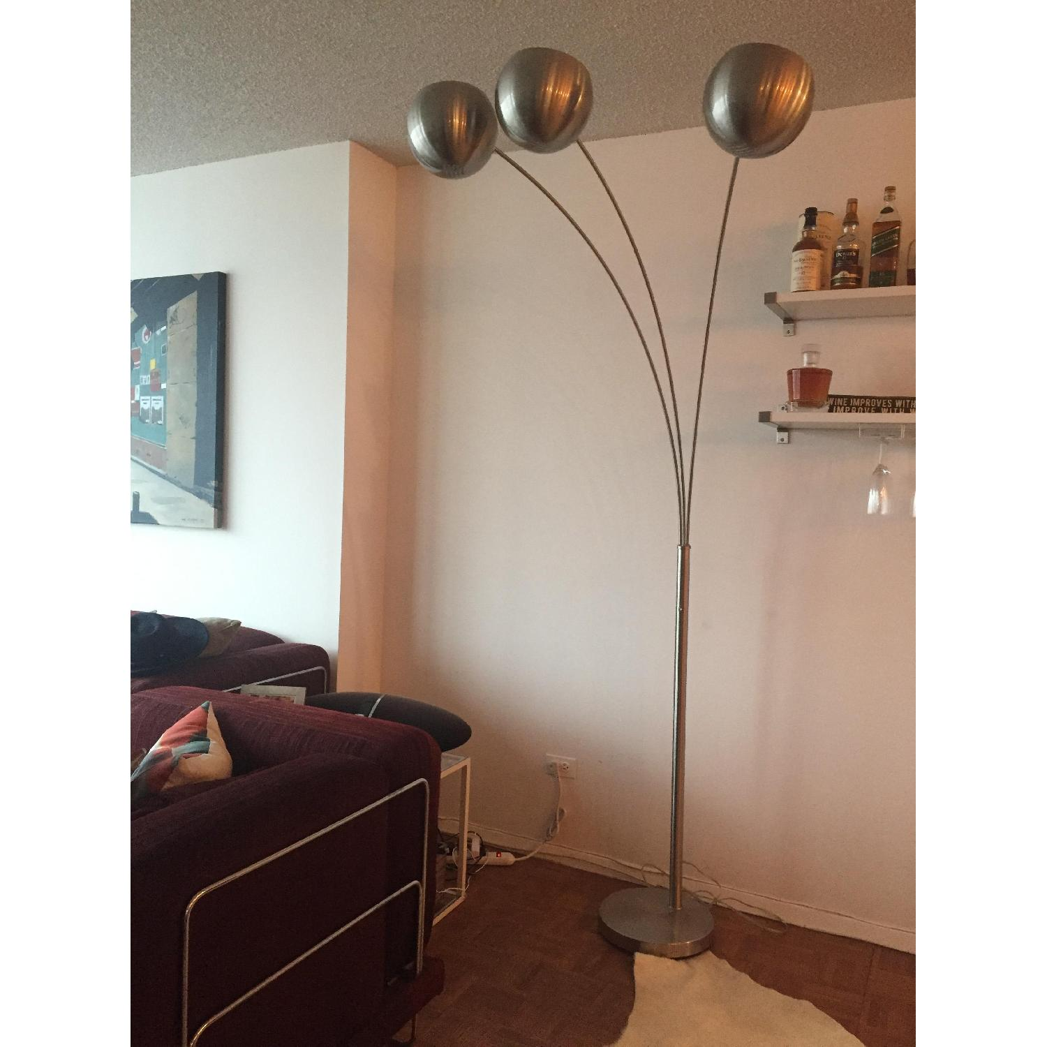 3-Light Arc Floor Lamp-0