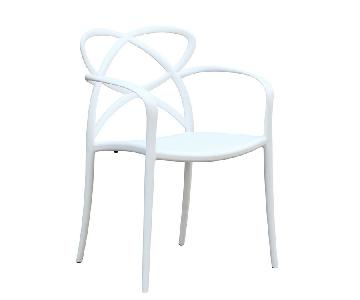 Modern Stackable Indoor/Outdoor White ABS Dining Chair