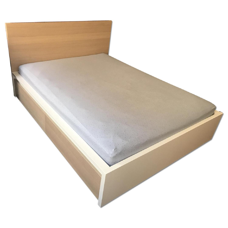 Ikea Malm Queen Bed W Under Bed Storage Aptdeco
