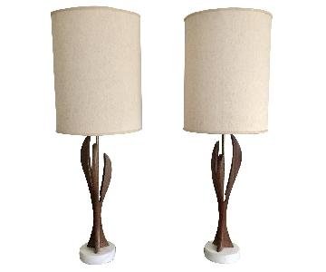 Mid-Century Sculptural Table Lamps